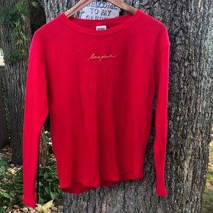 PINK Victoria's Secret thermal long sleeve shirt